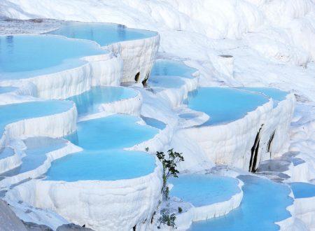 Pamukkale Turchia paesaggio fiabesco straordinario naturale