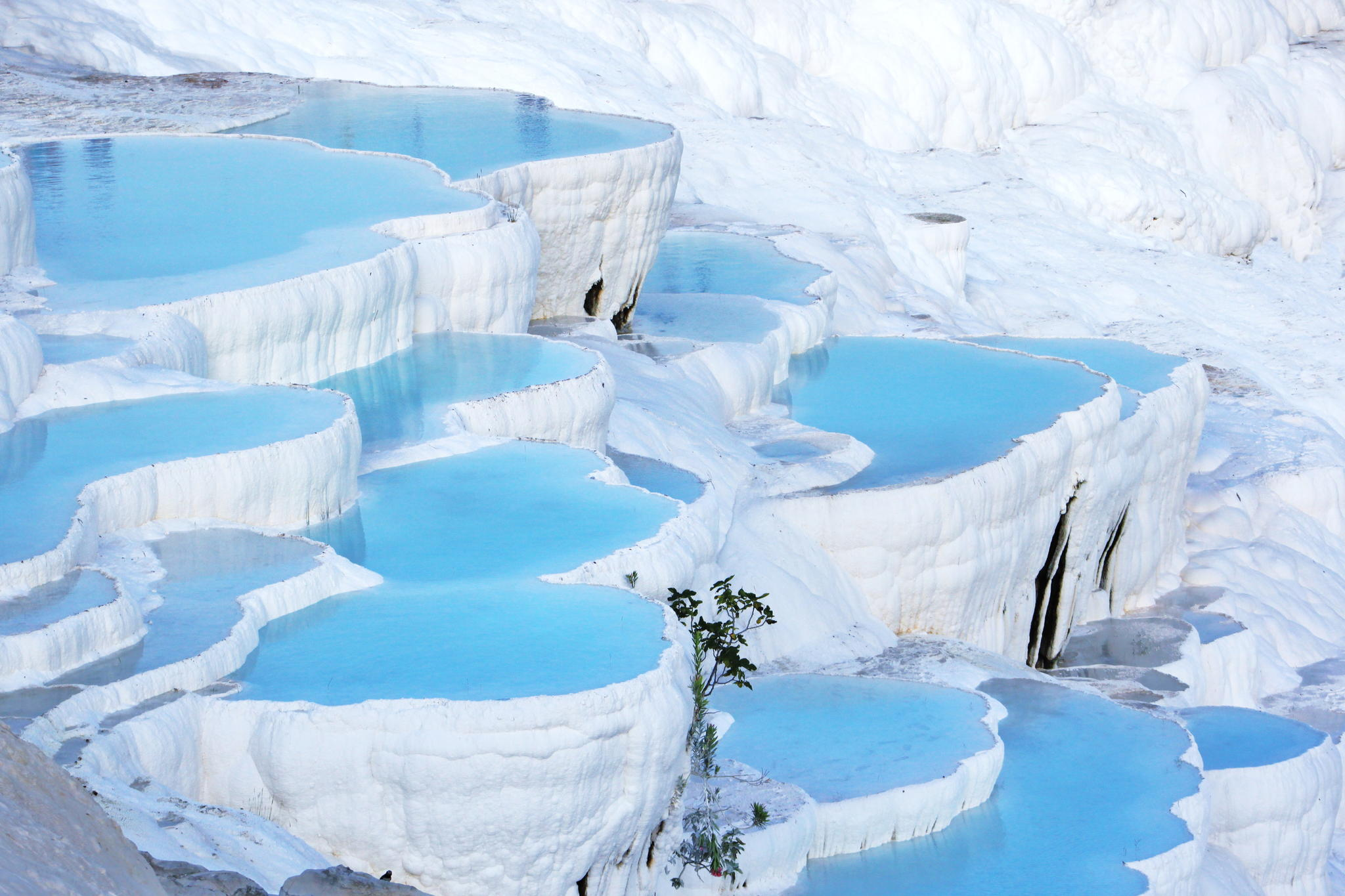 Paesaggi D Acqua Piscine pamukkale turchia paesaggio fiabesco straordinario naturale