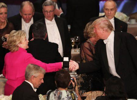 Hillary Clinton Donald Trump indegni ospiti gala beneficenza