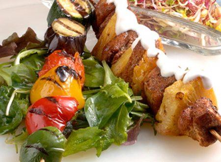 Spiedini di penne alle verdure: ricetta