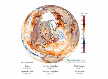 Polo Nord Temperature elevate impediscono inverno