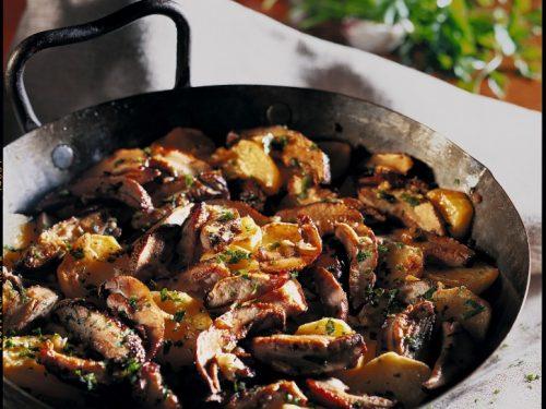 Contorno con funghi e patate alla genovese