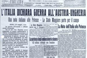 Accadde Oggi Scoppio Prima Guerra Mondiale 24 Maggio 1915