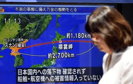 Corea del Nord Missile sorvola il Giappone