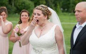 Matrimonio con sorpresa. La sposa e il figlio deceduto