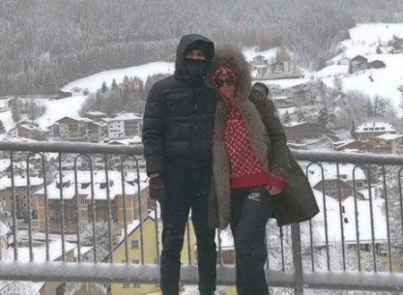 La coppia Icardi & Wanna innamorati sottozero