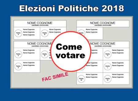 Elezioni 2018 come si vota