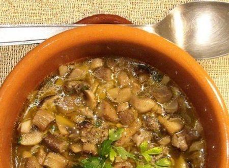 Oggi pensavo a una zuppa di funghi porcini