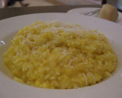 Un risotto al mascarpone e zafferano