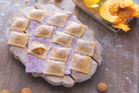 I ravioli di zucca tartufati