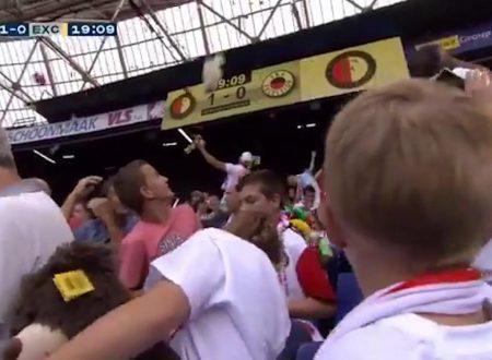 In Olanda i tifosi del Feyenoord e i peluche in regalo
