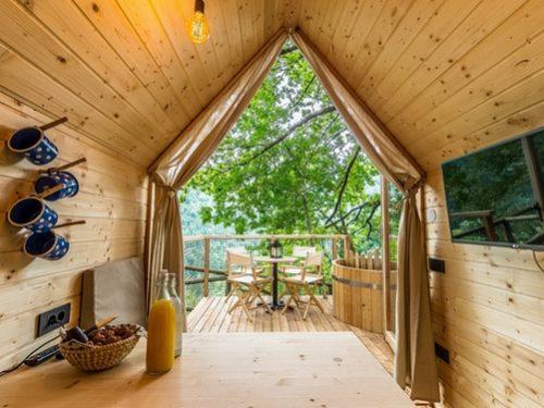 Viaggi Lago di Bled Natale alternativo in villini su albero con sauna