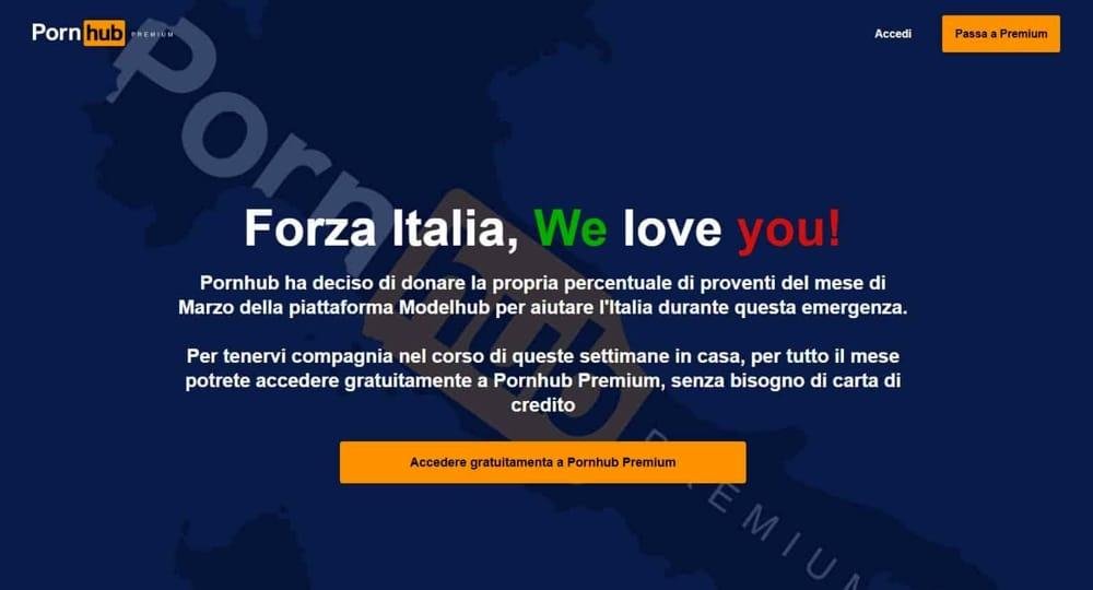 Pornhub e coronavirus Non solo Italia