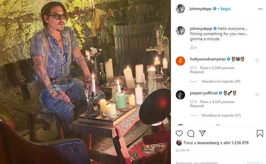 Instagram e Johnny Deep: oltre 2 milioni di followers in 24 ore