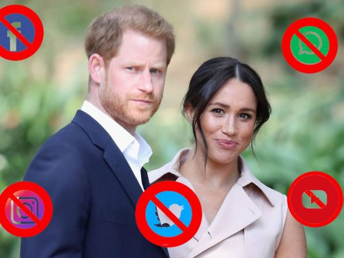 Harry e Meghan, addio ai social