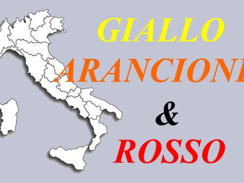 I colori delle Regioni: L'Italia tutta in giallo?