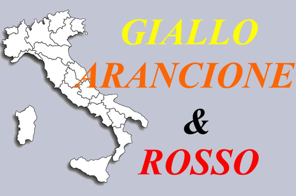 I colori delle Regioni: L'Italia tutta in gialla?