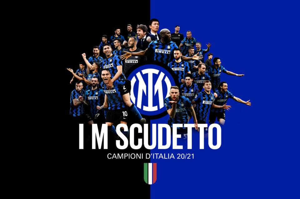 L'Inter Campione d'Italia conquista il 19/mo scudetto
