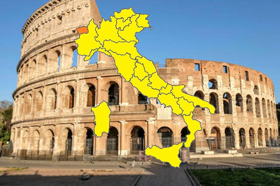 L'Italia si colora di giallo