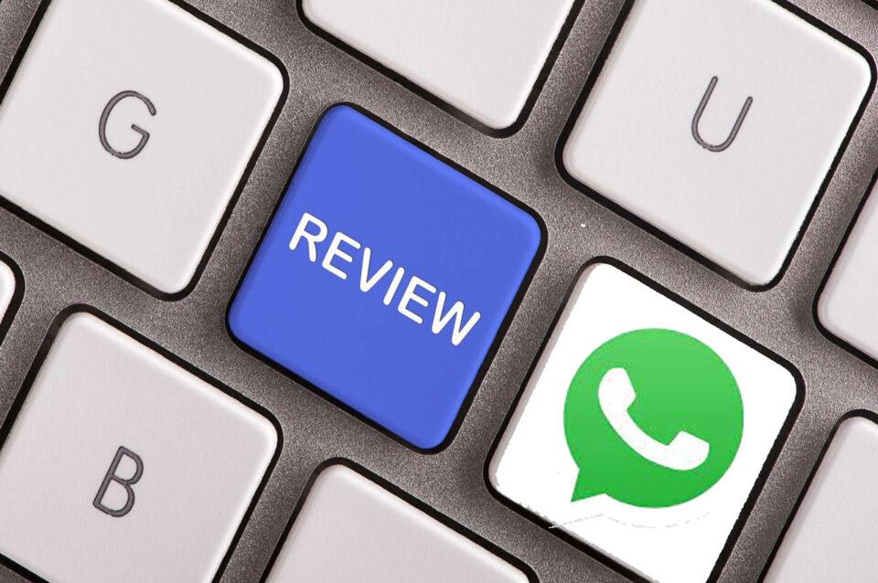 """WhatsApp, l'invio dei messaggi e il tasto """"Review"""""""