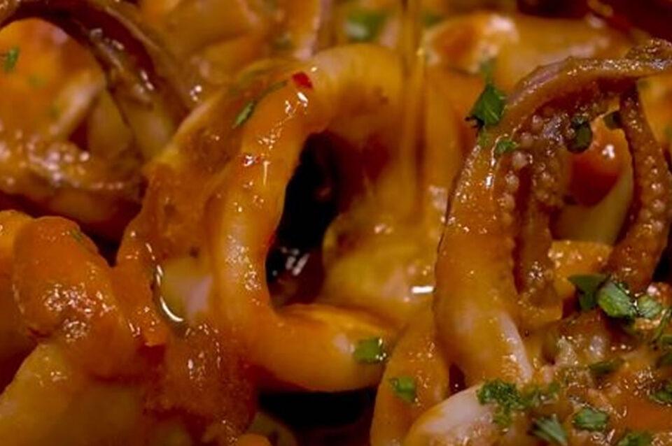 Calamari in tegame alla messinese