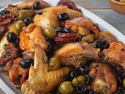 Pollo in Padella alla Mediterranea