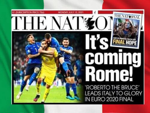 Euro 2020. Vince l'Italia e gli scozzesi sfottono gli inglesi