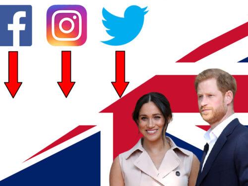 Social, caduta libera di Harry e Meghan